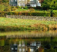 Rydal Water Reflections by English Landscape Prints