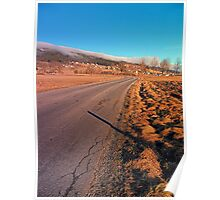 Winter road into the mountains | landscape photography Poster