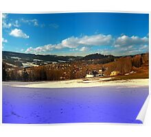 Colorful winter wonderland with clouds | landscape photography Poster
