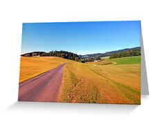 Country road with scenery   landscape photography Greeting Card