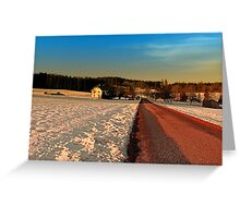Country road through winter wonderland | landscape photography Greeting Card