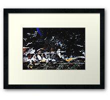 A Winters Arctic Storm Framed Print