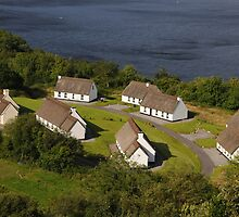 Irish Thatched Cottages - County Clare Ireland by Sean  Carroll