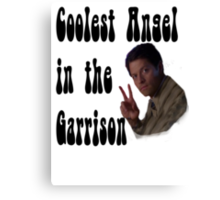 Coolest Angel in the Garrison Canvas Print