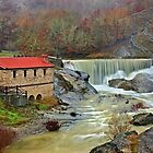 A watermill, a waterfall and a heart shaped rock by Hercules Milas