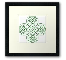 Irish Shamrock - line Art for St-Patrick's Day Framed Print