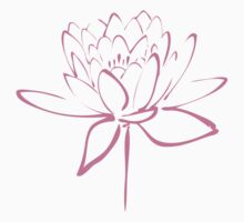 Lotus Flower Calligraphy Print (Pink) by Makanahele