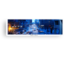 Rush Hour in Calgary Canvas Print