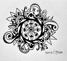 Dharma Wheel by KarinaOBrien