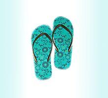 Summer Flip Flops by DesignDorice