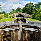 Canal Lock and Bridge by towerphotos