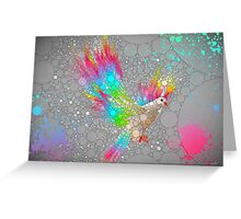 To Have Faith Is To Have Wings (Neon Wings Series V / Abstract) Greeting Card