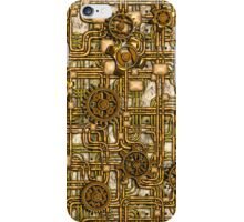 Steampunk Panel, Gears and Pipes - Brass iPhone Case/Skin