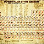 Periodic table of the elements vintage paper by Eti Reid