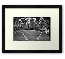 Waiting for the Light to Change Framed Print