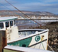 Annapolis Royal Wharf at Low Tide by Shonda Hogan