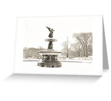 Angel of the Waters - Bethesda Fountain - Central Park Greeting Card