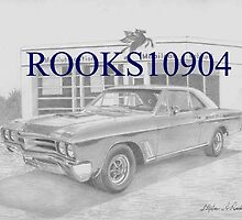1967 Buick Skylark GS MUSCLE CAR ART PRINT by rooks10904