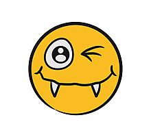 Funny naughty comics Monster baby smiley face Photographic Print