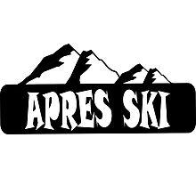 apres ski, ski, party, winter, snowboard,ride,hut Photographic Print