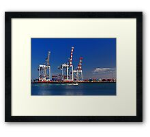 Fremantle Harbour - Western Australia  Framed Print