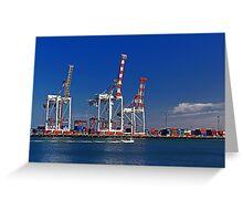 Fremantle Harbour - Western Australia  Greeting Card