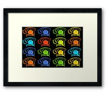 Retro Telephones Framed Print