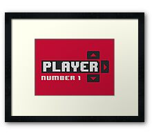 Player One Framed Print