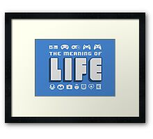 Meaning of Life = Gaming Framed Print