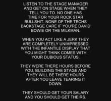 Henry Rollins stage manifesto by razorcuts