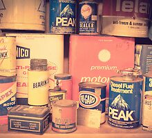 Vintage gas service station products by Edward Fielding