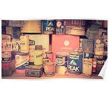 Vintage gas service station products Poster
