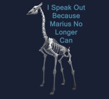 I Speak Out Because Marius No Longer Can, T Shirts & Hoodies. ipad & iphone cases by Eric Kempson