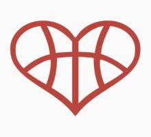 Basketball heart love Kids Clothes