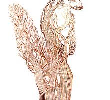 Branch Badger by LauraGarabedian