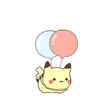 Pika and balloons  by dervmcd