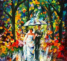 WEDDING UNDER THE RAIN by Leonid  Afremov