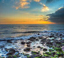 Sunset At Steephill Cove by manateevoyager