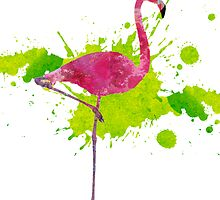 Paint Splatter Flamingo by jacqs