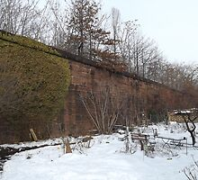 Harsimus Stem Embankment, Jersey City, New Jersey, Former Pennsylvania Railroad Embankment by lenspiro