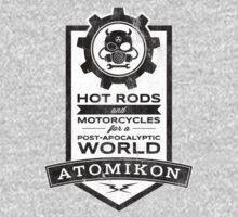 ATOMIKON Hot Rods & Motorcycles T-Shirt