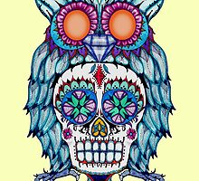 Sugar Skull Owl by LVBART