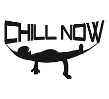Chill now hammock sleep cozy holiday logo by Style-O-Mat