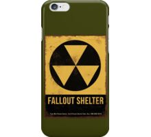 Fallout Shelter Sign iPhone Case/Skin