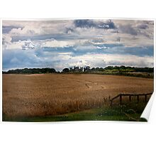 Over the fields towards Seaton Delaval Hall Poster