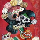 Mexican Skeletons Mother and Daughter by colonelle