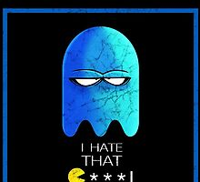 PACMAN C***! (Blue Ghost) by beastboxdesigns