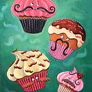 Flying Mustached Cupcakes by colonelle