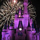 Disney Castle with Fireworks  by kattrzonca15