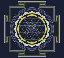 Sri Yantra by sparksandburns